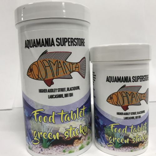 Aquamania Sticky Food Tablets (Green)